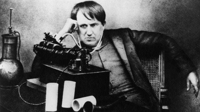 Thomas Edison and his phonograph (Photo: Hulton Archive/Getty Images)