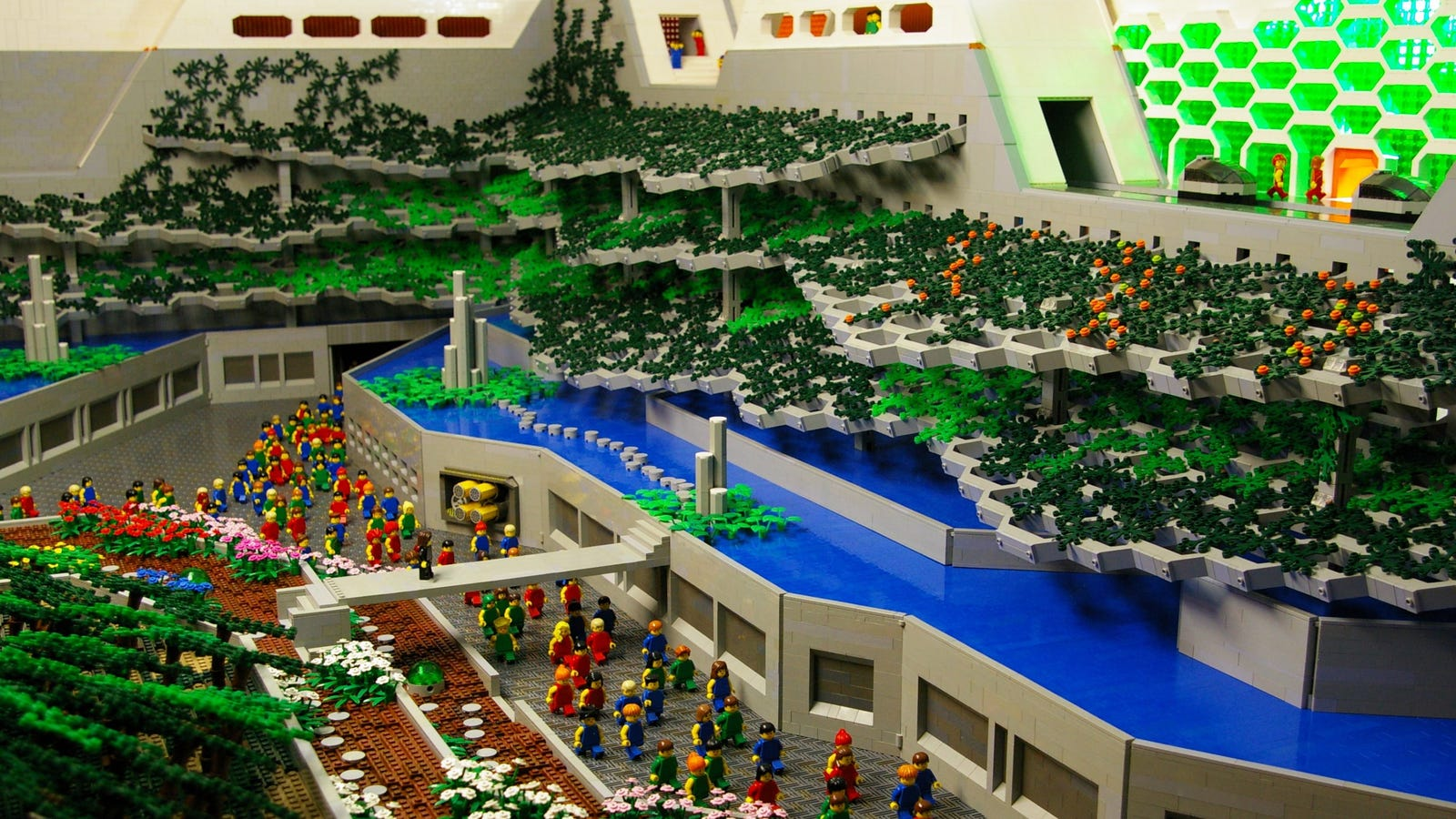 Logan S Run Depicted As A Giant Lego Diorama