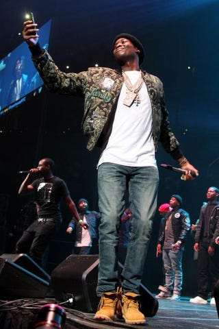Rapper Meek Mill performs onstage at the Barclays Center on Oct. 22, 2015, in Brooklyn, N.Y. Bennett Raglin/Getty Images for Power 105.1's Powerhouse 2015