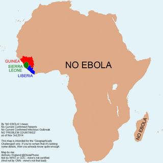 Illustration for article titled A little, helpful map about the Ebola pandemic....