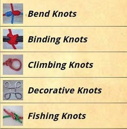 Illustration for article titled Knots Guide Is an Android-Based Knot How-To Guide