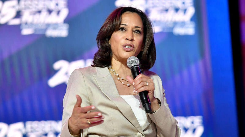 Kamala Harris speaking in New Orleans at the Essence Fest July 6, 2019