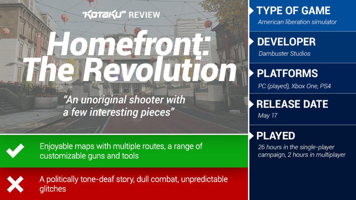 Homefront: The Revolution: The Kotaku Review