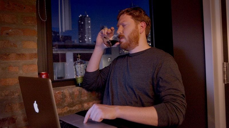 Illustration for article titled Drunken Man Careens Wildly Across Internet