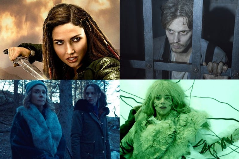 Clockwise from top left: The Outpost, Castle Rock, Killjoys & Wynonna Earp.