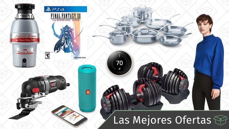 Illustration for article titled Las mejores ofertas de este miércoles: Pesas Bowflex, altavoces JBL, set de cocina Calphalon y más