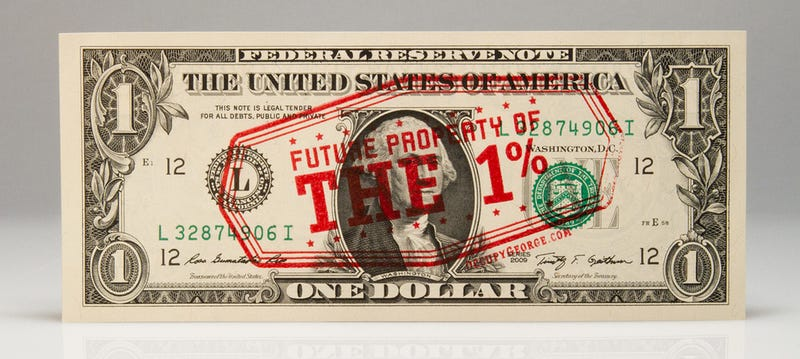 Illustration for article titled The 99% Is Printing Infographics on Money to Show the 1% the Reality of Occupy Wall Street