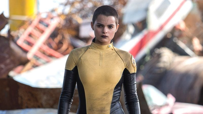 Brianna Hildebrand as Negasonic Teenage Warhead in Deadpool (2016)