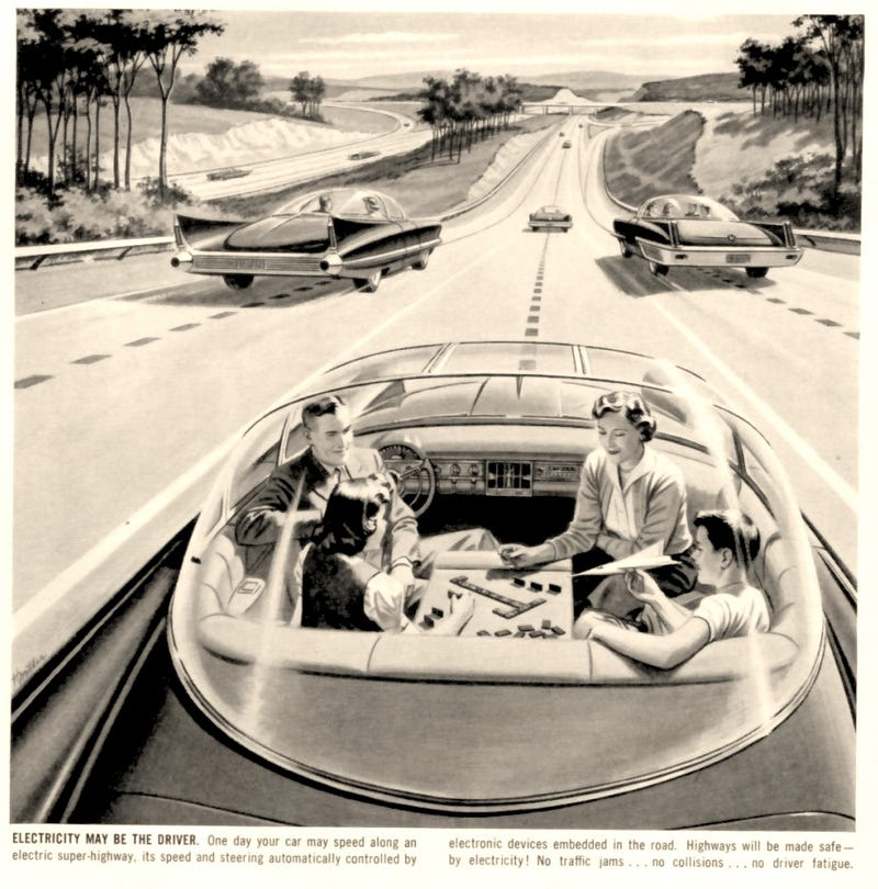 Illustration for article titled Driverless Car of the Future (1957)