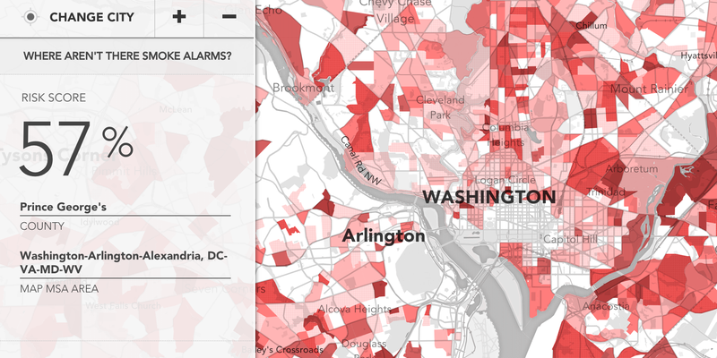 Illustration for article titled This Map Helps Predict Which Homes Need a Fire Alarm