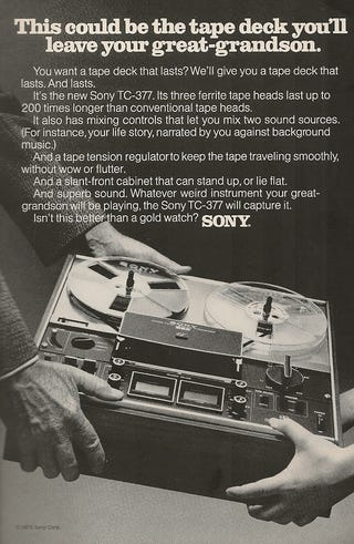 Illustration for article titled Sony Still Hoping Our Kids Will Be Into Really Retro Gear