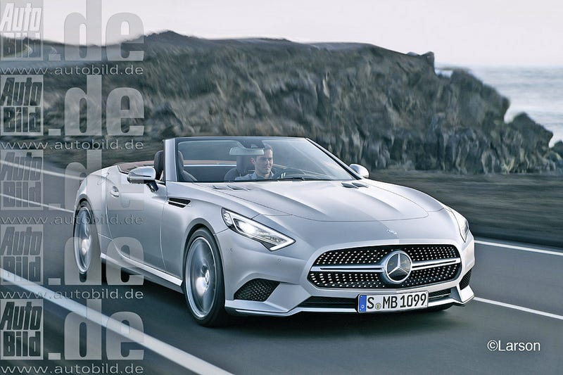 Illustration for article titled How the next generation Merc roadster, should look like