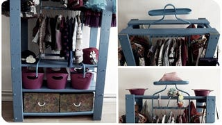 Illustration for article titled This DIY Mini Closet Saves Space, Is Made from IKEA Parts