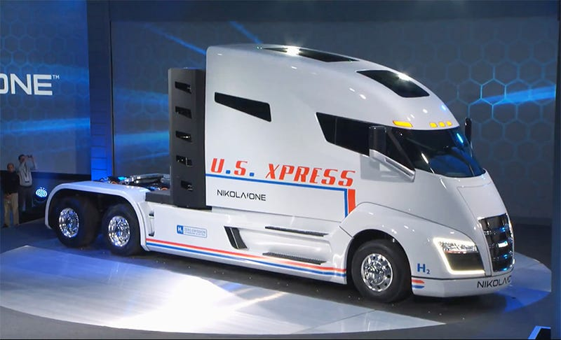 Electric big rig startup nikola comes up with a for Nikola motors stock price