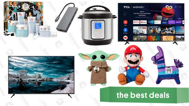 Sunday s Best Deals: TCL 65  Android TV, Instant Pot Duo Plus, Vava 8-in-1 USB-C Hub, All That FAB Skincare Set, Baby Yoda & Nintendo Character Pillows, and More
