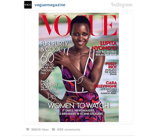Illustration for article titled Lupita Nyong'o Gets Her First Vogue Cover