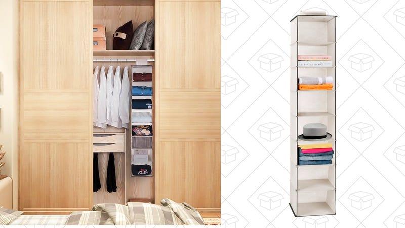 Hanging Closet Organizer | $11 | Amazon | Use code AGKZWGAV