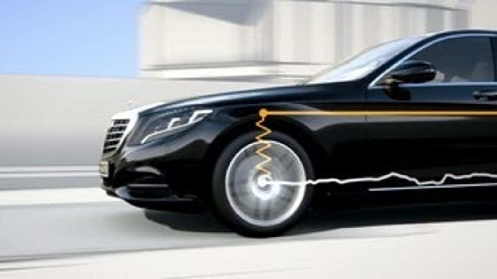 How Mercedes Benz Uses Cameras to Stabilize the Road While You Drive