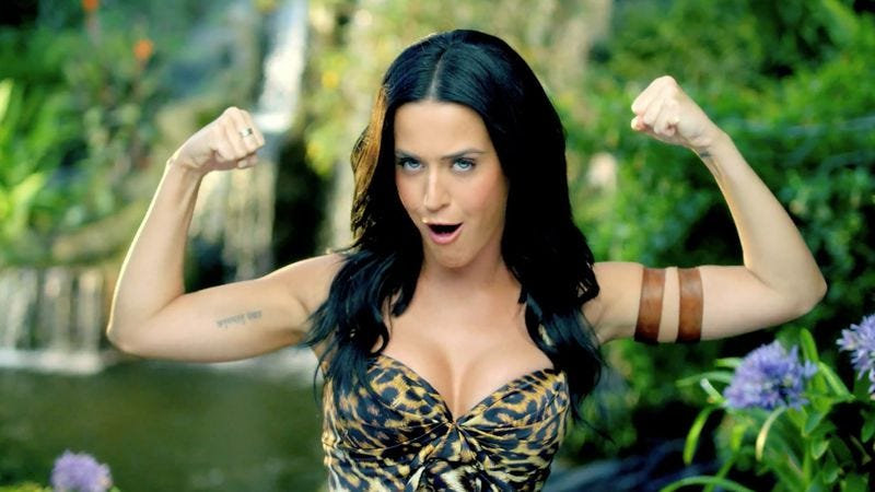 "Illustration for article titled Katy Perry's ""Roar"" is a kind of a rip-off, but at least it's a good one"