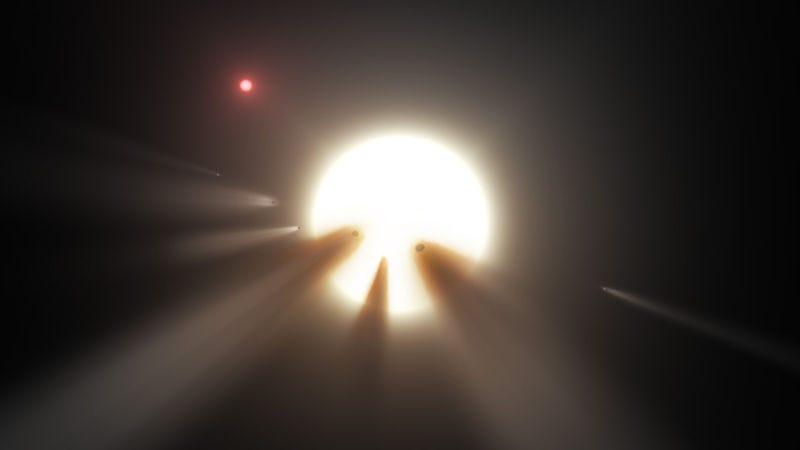 Illustration for article titled Ni cometas, ni alienígenas: la estrellaKIC 8462852 todavía desconcierta a los astrónomos