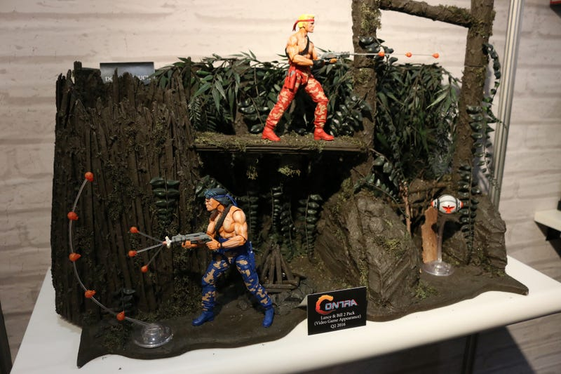Illustration for article titled Neca Figures Really Capture Contra's Good Side