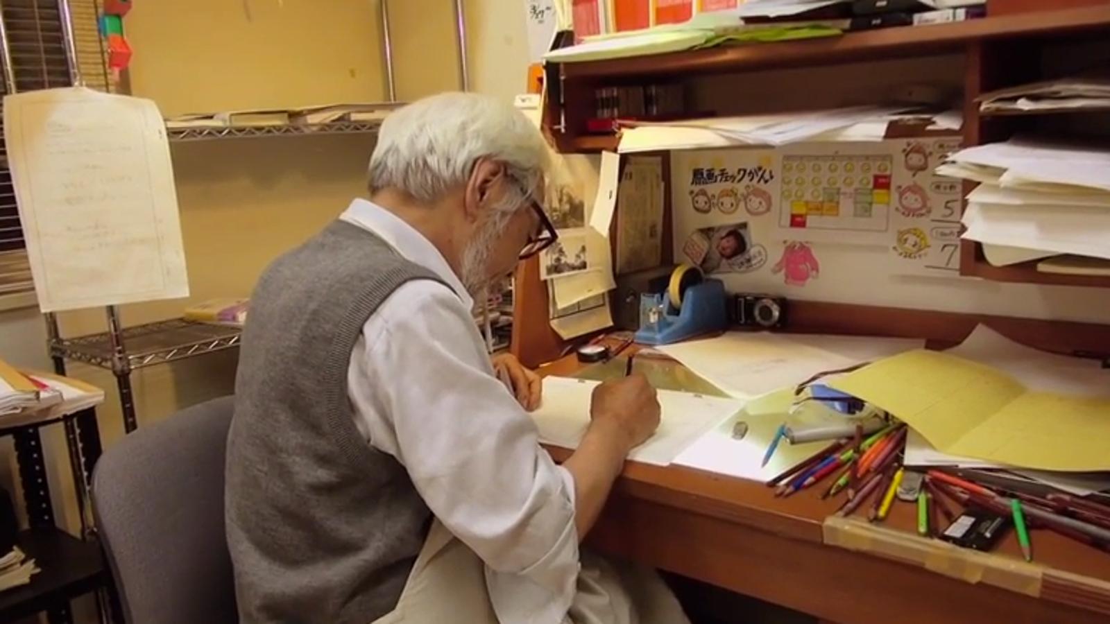 Ver a Hayao Miyazaki animar su última toma es pura nostalgia