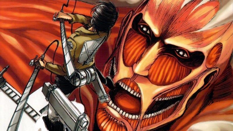 Recorte de la primera portada del manga Ataque a los titanes. Imagen: Kōdansha