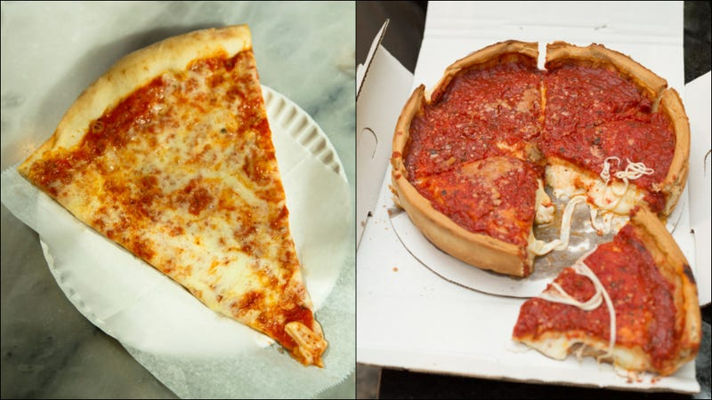 Illustration for article titled New York, Chicago cops join forces to diss each other's pizza
