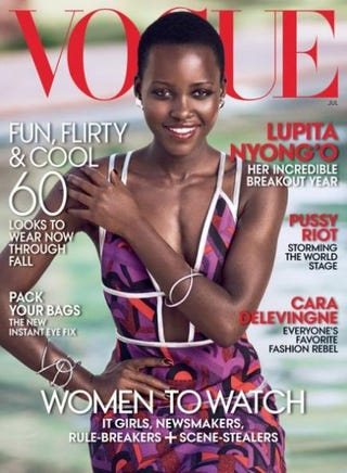 Lupita Nyong'o on the cover of the July 2014 issue of VogueMikael Jansson/Vogue