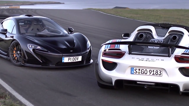epic track battle surprises between mclaren p1 and porsche 918 spyder. Black Bedroom Furniture Sets. Home Design Ideas