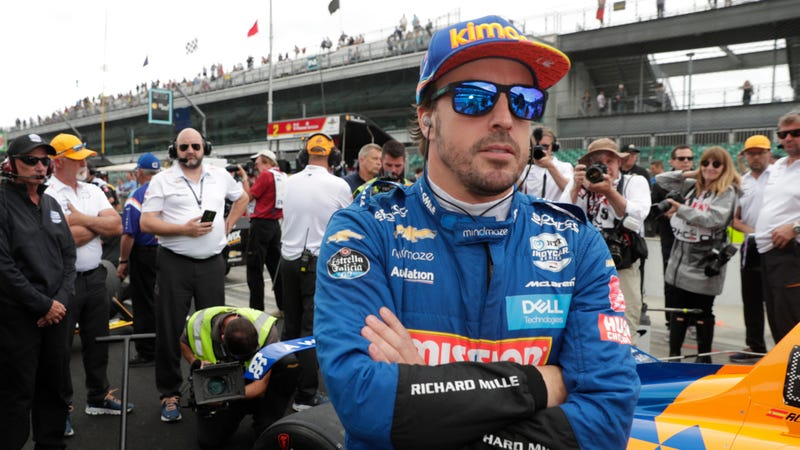 Fernando Alonso before things went south in Indianapolis 500 qualifying.