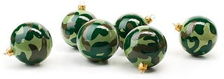 Illustration for article titled Art.Lebedev Camouflage Christmas Ornaments May Disappear on Your Tree