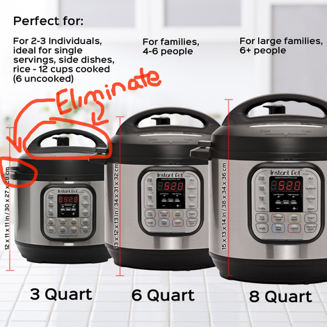 Illustration for article titled The Small Instant Pot Should Fit Inside the Regular Instant Pot: A Modest Proposal