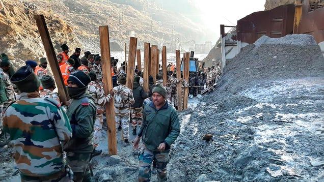 Glacier Breaks, Unleashing a Monster Flash Flood in Himalayas