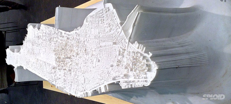 Illustration for article titled This Stunning Model of Manhattan Is Carved In Solid Marble