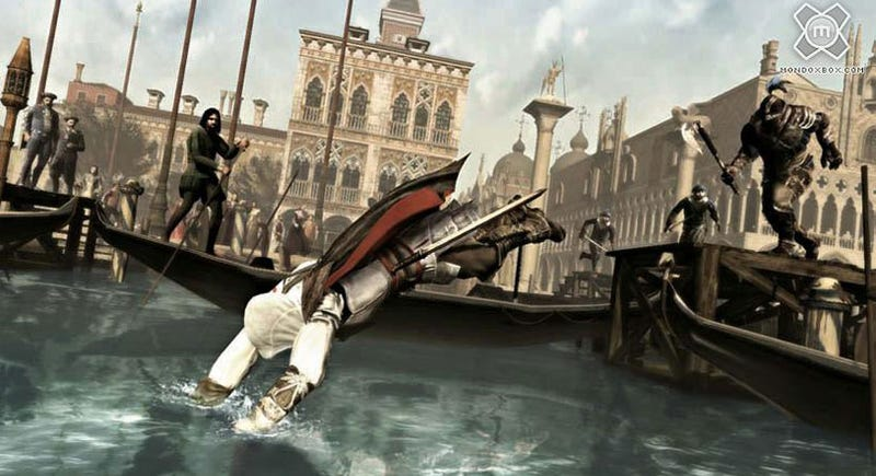 Illustration for article titled New Assassin's Creed II Screens Show Off Swimming, Flying