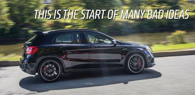 Illustration for article titled The Mercedes GLA45 AMG Is Dumb And I'm Dumb And I Kind Of Love It