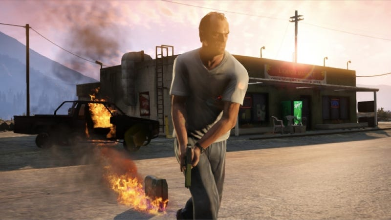 Illustration for article titled These New Grand Theft Auto V Screens Are On Fire