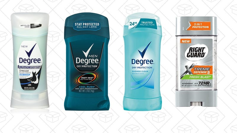 Illustration for article titled These Deals on Deodorants Don't Stink