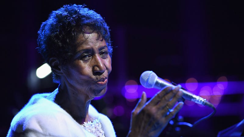 Aretha Franklin performs onstage at the Elton John AIDS Foundation Commemorates Its 25th Year And Honors Founder Sir Elton John During New York Fall Gala on November 7, 2017 in New York City.