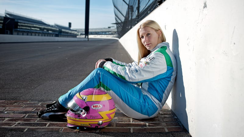 Indianapolis 500 entrant Pippa Mann, who will attempt her seventh Indy 500 in May.