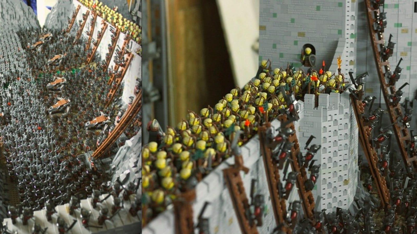 La épica batalla del Abismo de Helm, en 150.000 piezas de LEGO