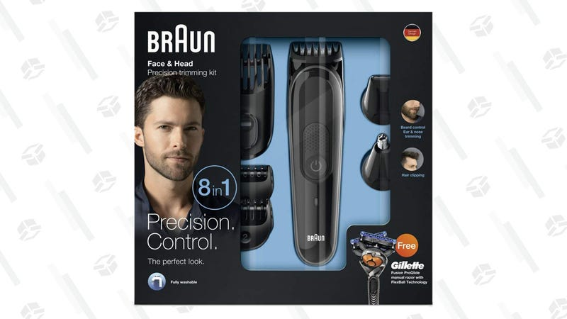 Braun MGK3060 Men's Beard Trimmer with 4 Combs & Gillette Fusion Razor | $25 | Amazon | Clip the coupon