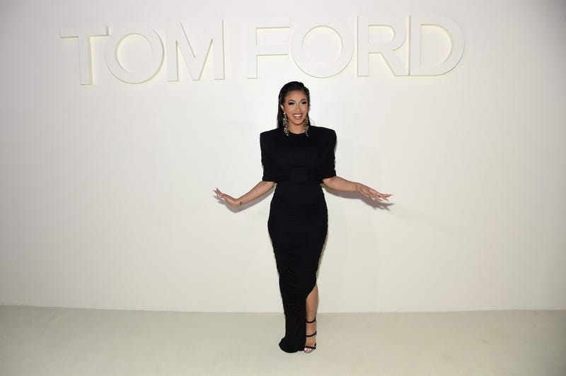 Cardi B attends the Tom Ford fashion show during New York Fashion Week at Park Avenue Armory on September 5, 2018 in New York City.=
