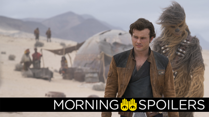 Han and Chewie probably won't be bumping into a certain Bounty Hunter in Solo: A Star Wars Story... as far as we know at least.