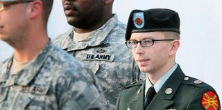 Bradley Manning leaving a court hearing in February (Mark Wilson/Getty Images News)