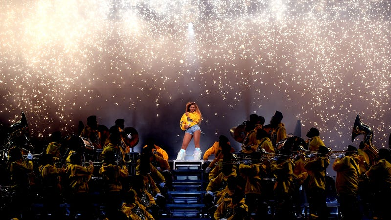 Beyonce Knowles performs onstage during 2018 Coachella Valley Music And Arts Festival Weekend 1 on April 14, 2018 in Indio, California.