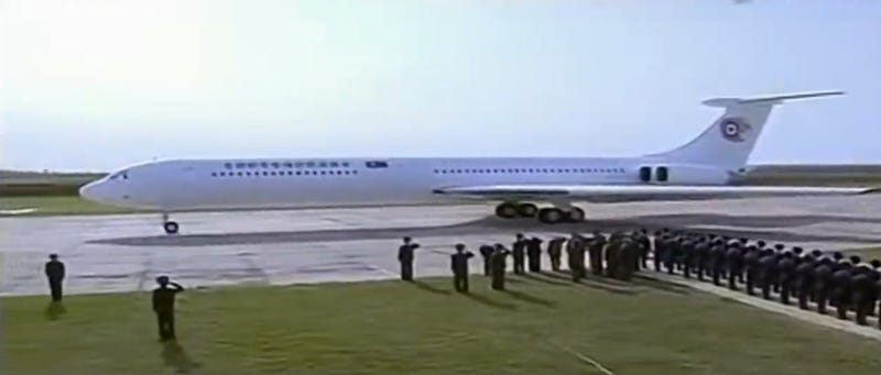 "Illustration for article titled North Korea Debuts Kim Jong Un's ""New"" Plane Amidst Sad Display"