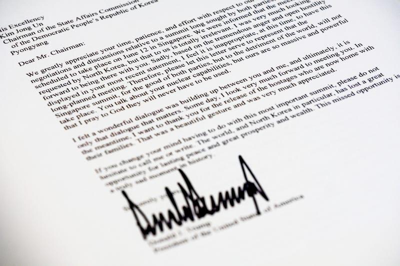 Illustration for article titled Esta es la carta que Donald Trump envió a Kim Jong-un para cancelar su histórica reunión