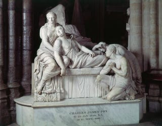 Richard Westmacott, Monument to Charles James Fox,1810-15 (installed 1822). Marble.Westminster Abbey, London